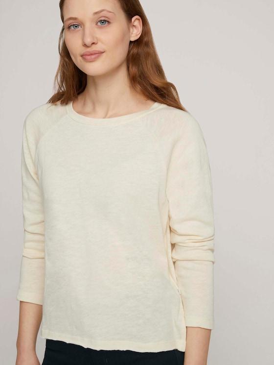 Basic Langarmshirt - Frauen - soft creme beige - 5 - TOM TAILOR Denim