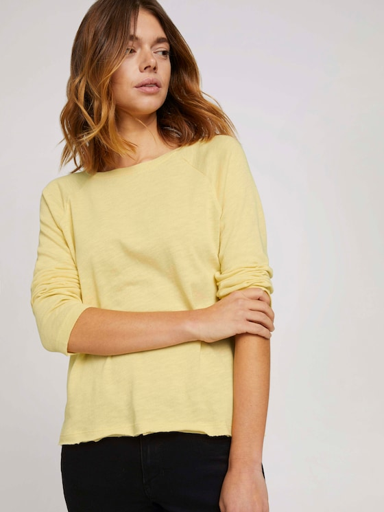 Basic Langarmshirt - Frauen - soft yellow - 5 - TOM TAILOR Denim