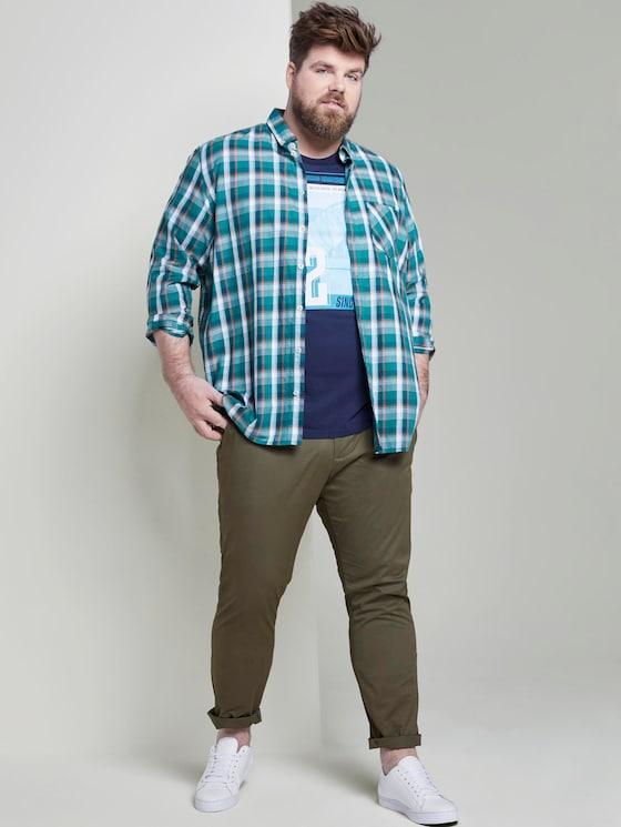 Slim chino trousers - Men - Olive Night Green - 3 - Men Plus