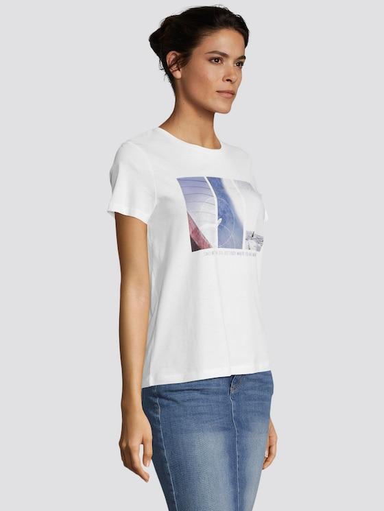 T-Shirt mit Motivprint - Frauen - Whisper White - 5 - TOM TAILOR