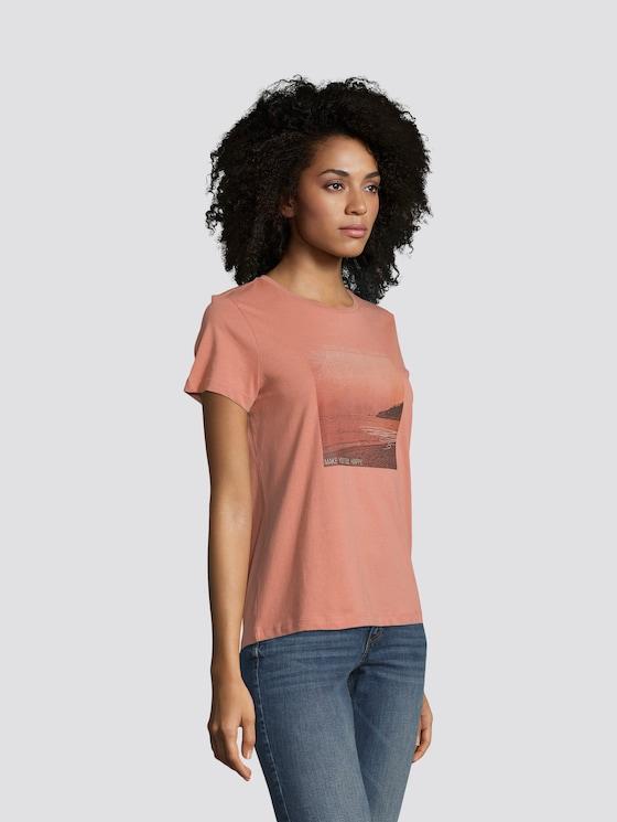 T-Shirt mit Motivprint - Frauen - light copper - 5 - TOM TAILOR