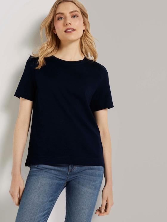 Modernes Basic T-Shirt - Frauen - Sky Captain Blue - 5 - TOM TAILOR
