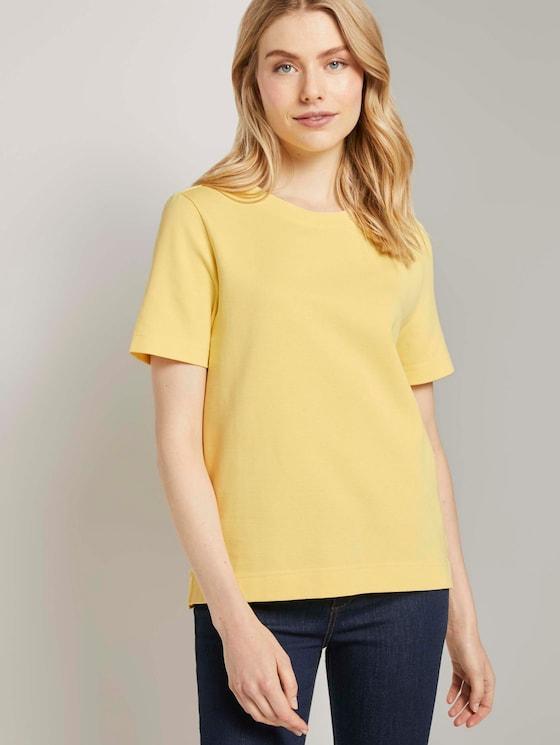 Modernes Basic T-Shirt - Frauen - honey popcorn - 5 - TOM TAILOR