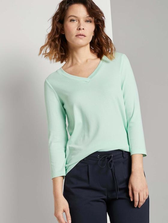 Shirt mit 3/4 Arm - Frauen - minty green - 5 - TOM TAILOR