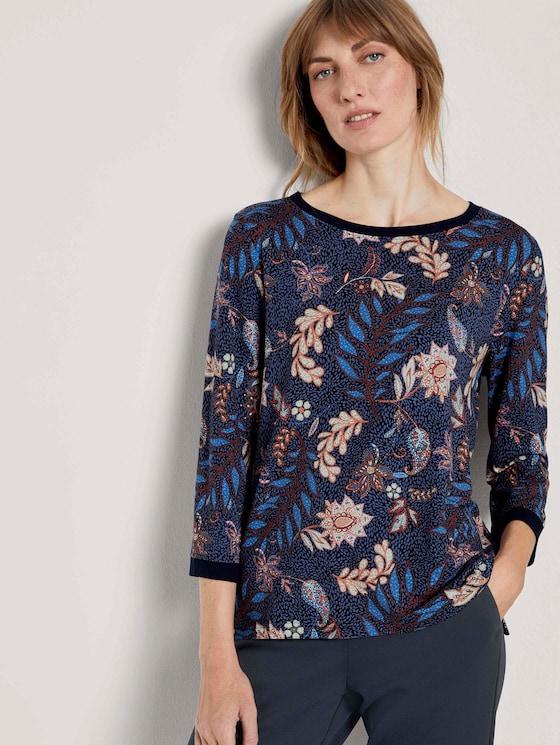 Sweatshirt mit Blumenmuster - Frauen - navy floral design - 5 - TOM TAILOR