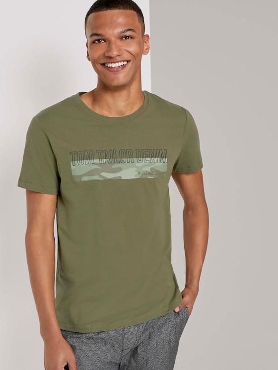 T-Shirt mit Camouflage-Print - Männer - Dry Greyish Olive - 5 - TOM TAILOR Denim