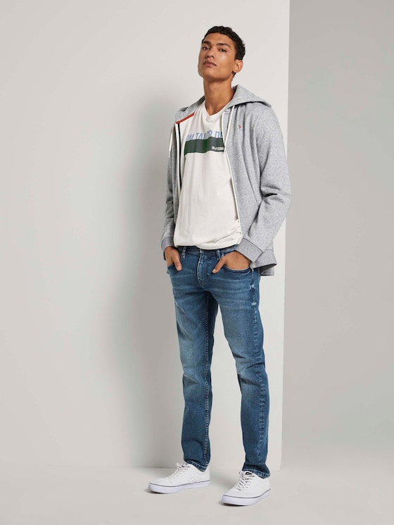Piers Slim Stretch Jeans - Männer - Used Light Stone Blue Denim - 3 - TOM TAILOR Denim