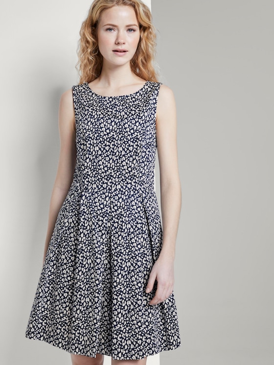 Patterned dress - Women - navy small leo design - 5 - TOM TAILOR