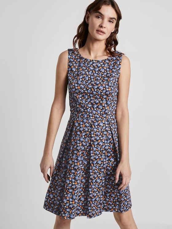 Gemustertes Kleid - Frauen - navy floral design - 5 - TOM TAILOR