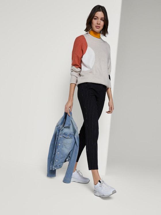 Mia Slim Ankle Hose - Frauen - black and white pin stripe - 3 - TOM TAILOR