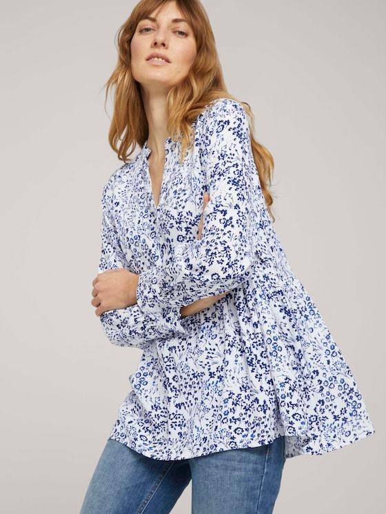 Tunika Bluse mit Volants - Frauen - offwhite flower design - 5 - TOM TAILOR
