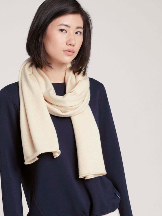 Soft knitted scarf - Women - smooth light sand - 5 - Tom Tailor E-Shop Kollektion