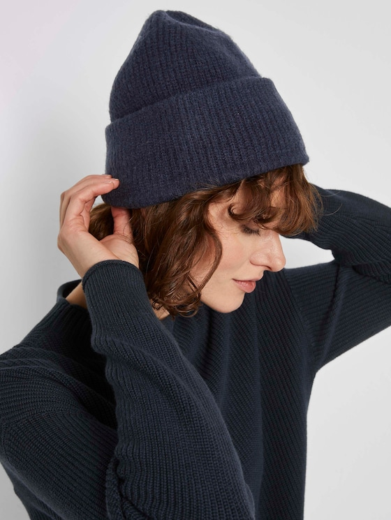 Beanie in Ripp-Optik - Frauen - Sky Captain Blue - 5 - TOM TAILOR