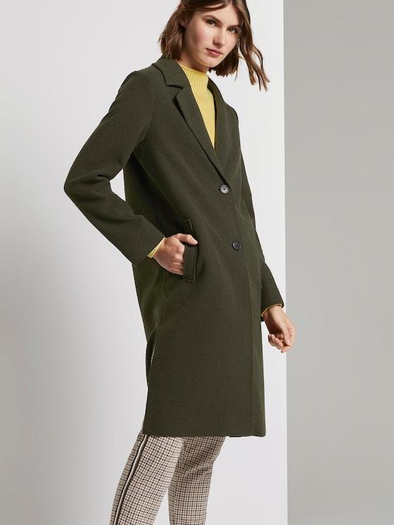 Langer Mantel mit Seitenschlitzen - Frauen - Dark Rosin Green - 5 - TOM TAILOR