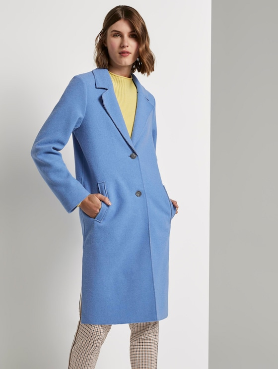 Langer Mantel mit Seitenschlitzen - Frauen - sea blue - 5 - TOM TAILOR