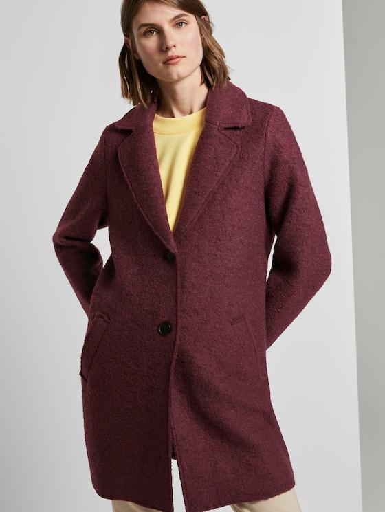 Loose bouclé coat - Women - Gipsy Purple - 5 - TOM TAILOR