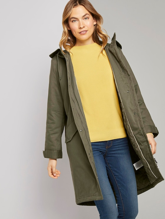Parka mit Steppfutter - Frauen - Olive Night Green - 5 - TOM TAILOR