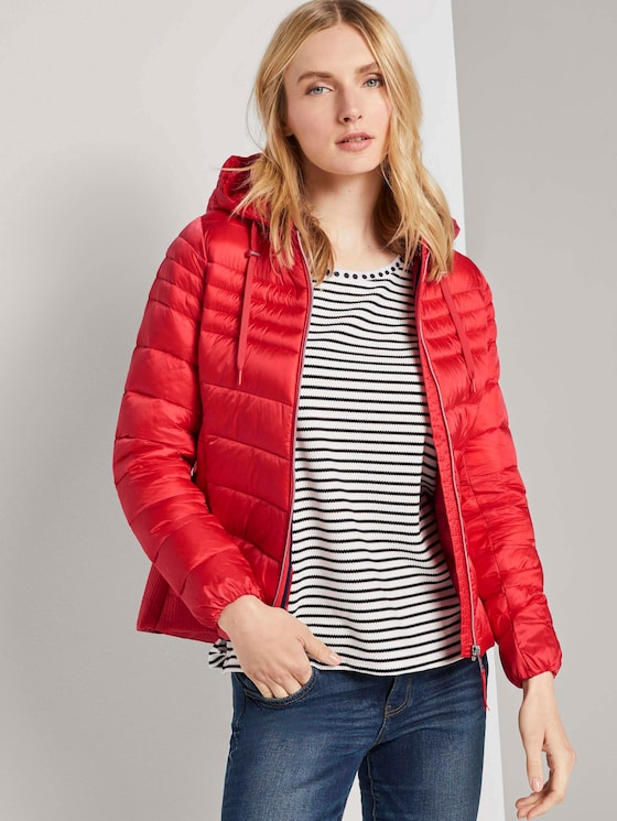 Lightweight Steppjacke mit Kapuze - Frauen - Strong Red - 5 - TOM TAILOR
