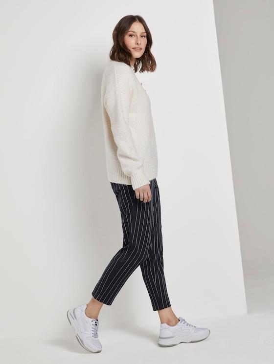 Cigarette Hose in Ankle-Länge - Frauen - navy white pin stripe - 3 - TOM TAILOR Denim