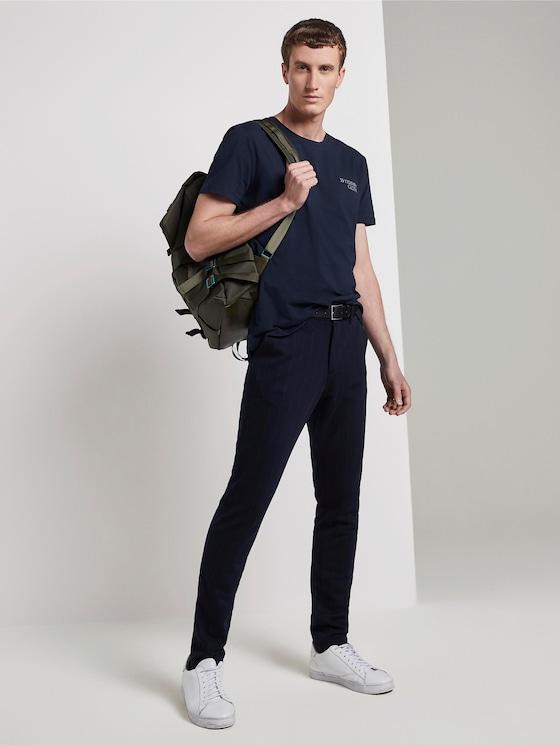 Slim Chino Hose mit Nadelstreifen - Männer - navy anthra pin stripe - 3 - TOM TAILOR Denim