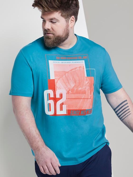 T-Shirt mit Print - Männer - teal bay green - 5 - Men Plus