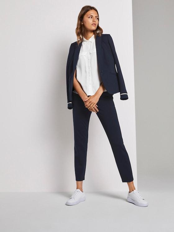 Mia Slim Hose aus Jersey - Frauen - Sky Captain Blue - 3 - TOM TAILOR