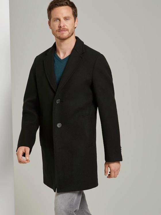Classic wool coat - Men - Black - 5 - TOM TAILOR