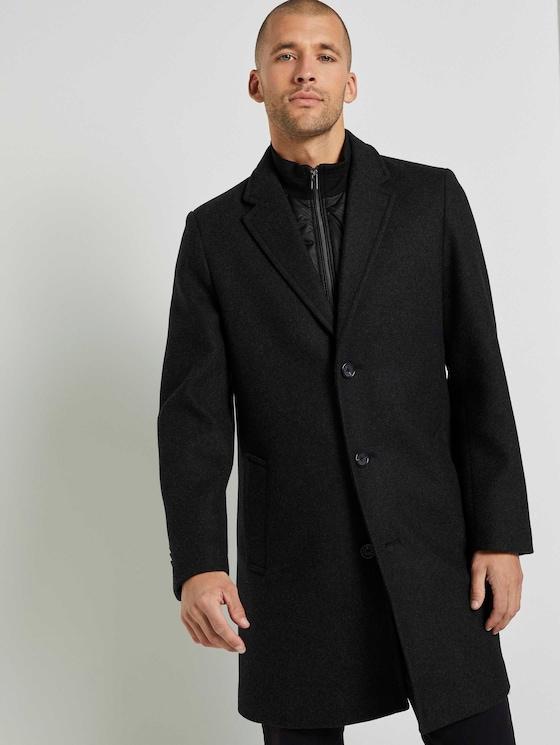 Wollmantel mit abnehmbarem Krageneinsatz - Männer - Dark Grey Wool Jacket - 5 - TOM TAILOR