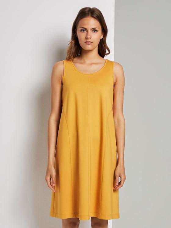 Ärmelloses Jersey-Kleid in A-Linie (gelb) - von TOM TAILOR ...