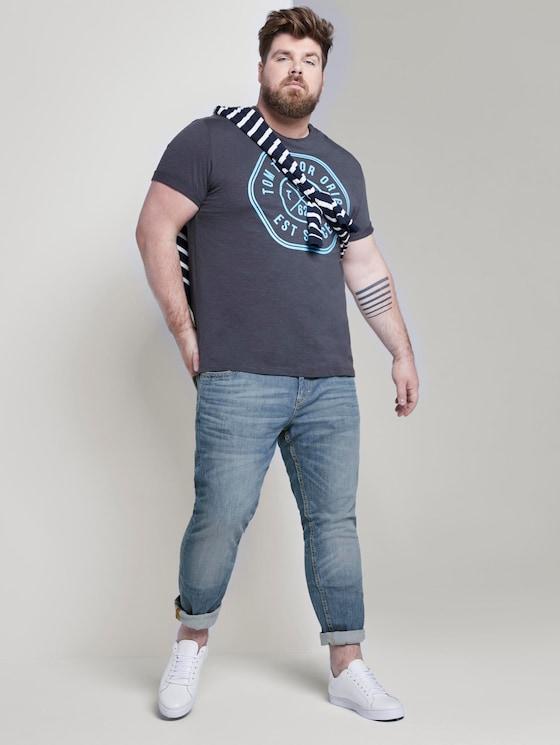Slim jeans - Men - mid stone wash denim - 3 - Men Plus