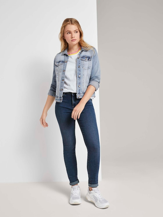Nela Extra Skinny Jeans - Frauen - Used Mid Stone Blue Denim - 3 - TOM TAILOR Denim