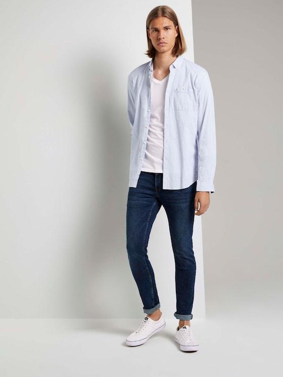 Skinny Culver Soft Stretch-Jeans - Männer - Used Dark Stone Blue Denim - 3 - TOM TAILOR Denim