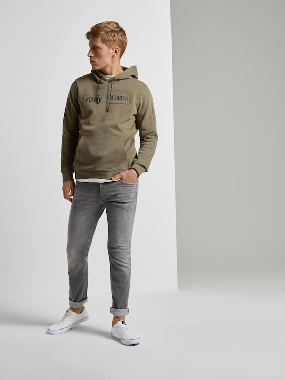 Aedan Straight Stretch-Jeans - Männer - used mid stone grey denim - 3 - TOM TAILOR Denim