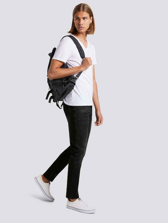 Slim Piers Soft-Stretch-Jeans - Männer - dark stone black denim - 3 - TOM TAILOR Denim
