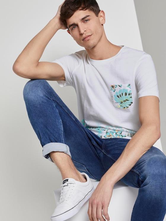 T-shirt with a print gradient - Men - White - 5 - TOM TAILOR Denim