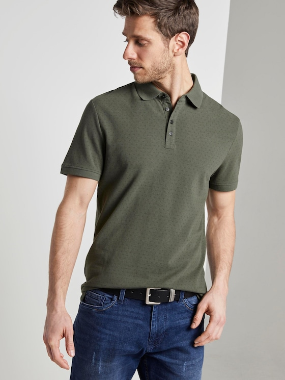 Poloshirt mit Alloverprint - Männer - Dark Thyme - 5 - TOM TAILOR