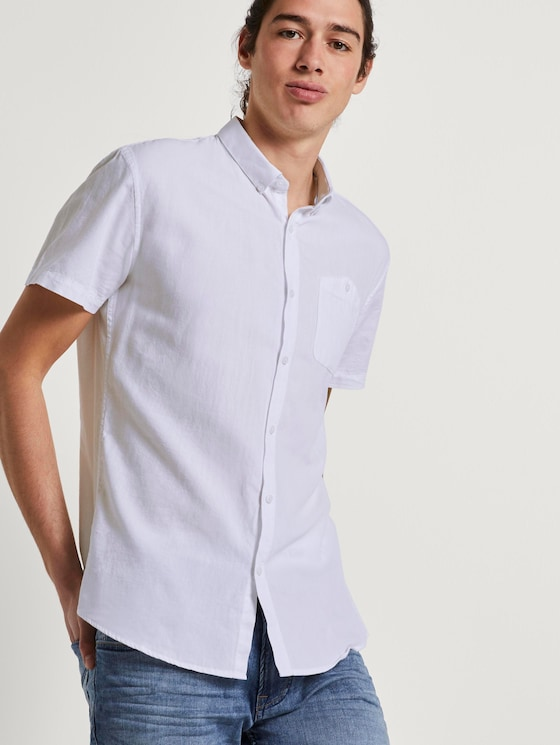 Strukturiertes Hemd - Männer - White - 5 - TOM TAILOR Denim