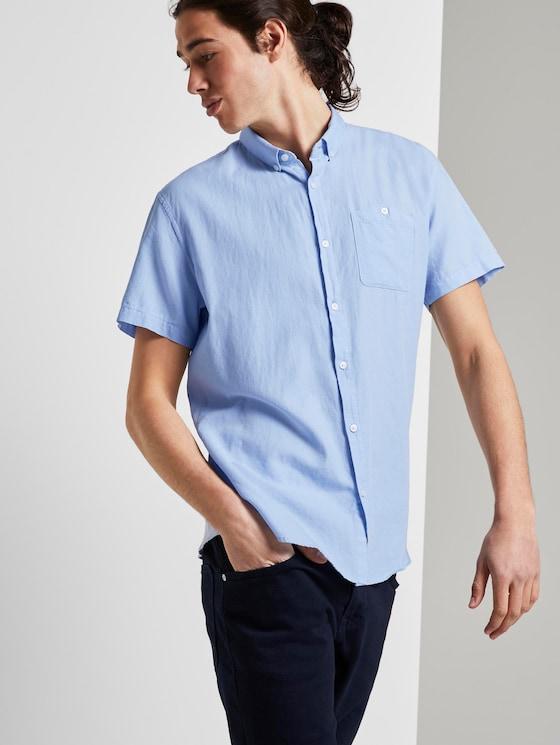 Strukturiertes Hemd - Männer - light blue fil a fil stripe - 5 - TOM TAILOR Denim