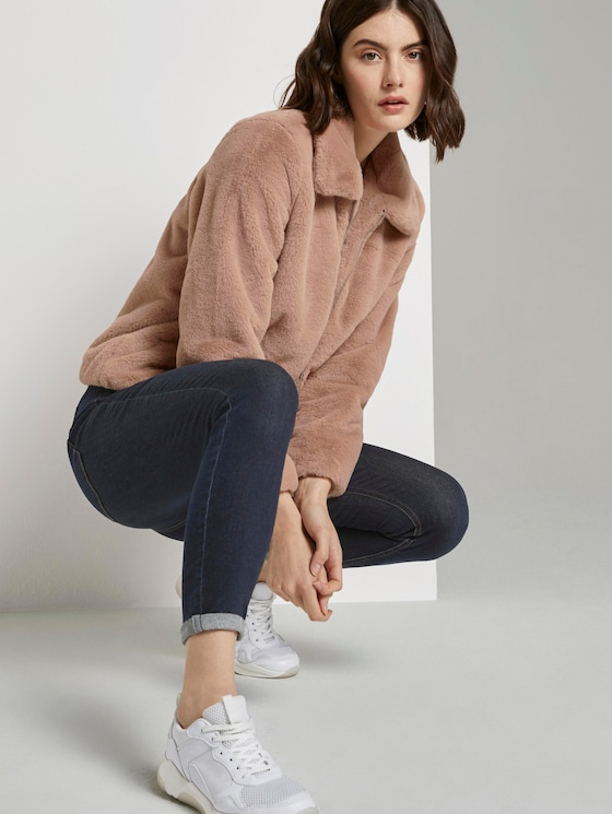 Kurze Kunstfell Jacke - Frauen - rose fake fur - 5 - TOM TAILOR Denim