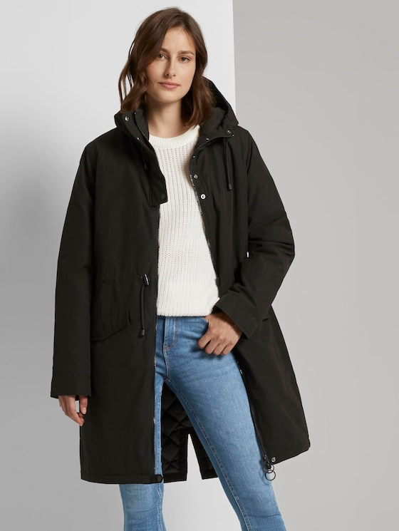 Technischer Parka mit Kapuze - Frauen - Deep Black - 5 - TOM TAILOR Denim