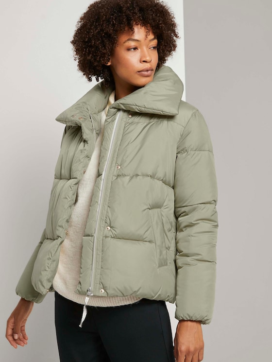 Moderne Pufferjacke mit Steppung - Frauen - herbal tea green - 5 - Mine to five