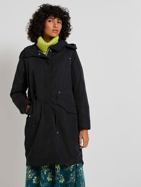 Oversized Parka met hoodie - Vrouwen - Deep Black - 5 - Mine to five