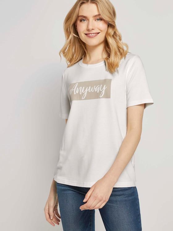 T-Shirt mit Print - Frauen - Off White - 5 - TOM TAILOR