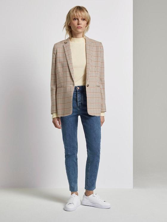 Emma Straight Jeans mit offenem Saum - Frauen - bright blue denim - 3 - Mine to five