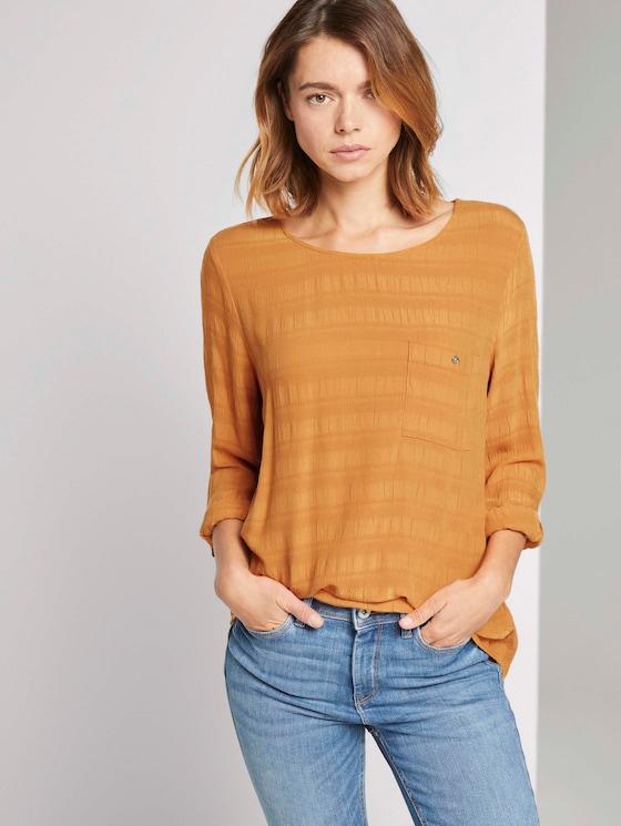 Tunika Bluse mit Brusttasche - Frauen - orange yellow - 5 - TOM TAILOR Denim