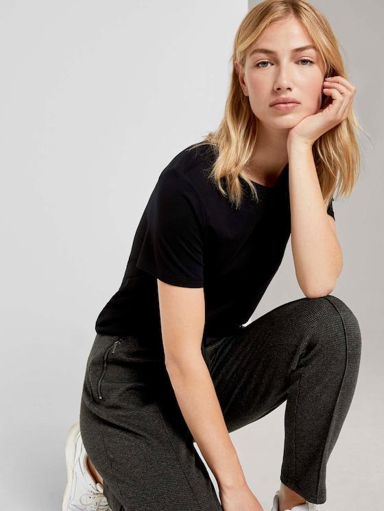 Lockeres Basic-T-Shirt - Frauen - Deep Black - 5 - TOM TAILOR Denim