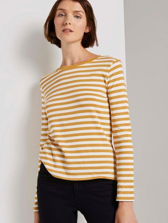 Striped long-sleeved shirt - Women - yellow white stripe - 5 - TOM TAILOR Denim
