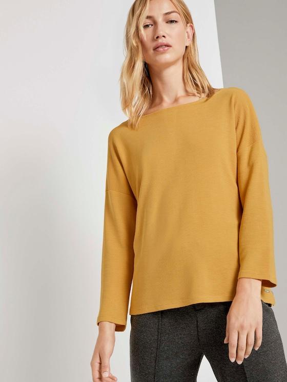 Strukturiertes Boxy-Shirt - Frauen - Indian Spice Yellow - 5 - TOM TAILOR Denim