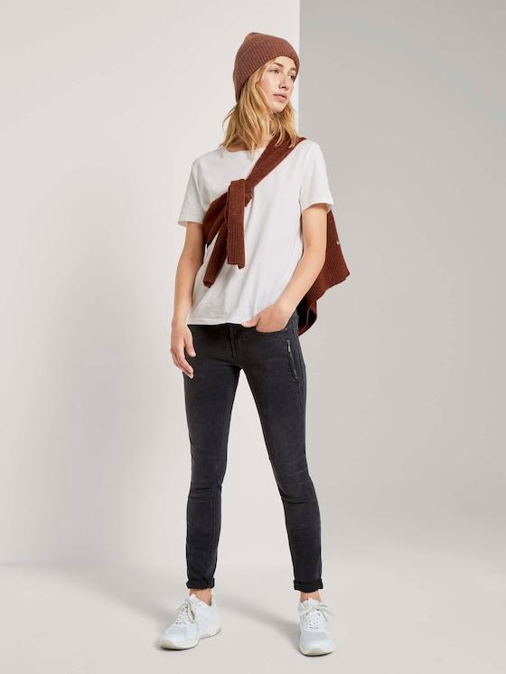 Extra Skinny Jona Biker-Jeans mit Reißverschlussdetails - Frauen - used dark stone black denim - 3 - TOM TAILOR Denim