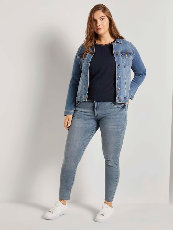 Skinny Jeans im Used-Look - Frauen - Light Stone Blue Denim - 3 - My True Me